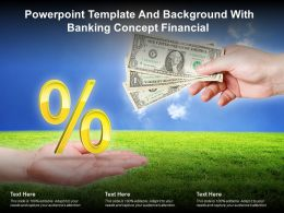 Powerpoint Template And Background With Banking Concept Financial