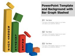 Powerpoint Template And Background With Bar Graph Slashed