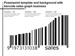 Powerpoint Template And Background With Barcode Sales Graph Business