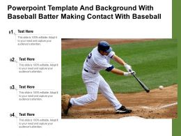 Powerpoint Template And Background With Baseball Batter Making Contact With Baseball
