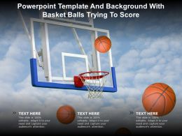 Powerpoint Template And Background With Basket Balls Trying To Score