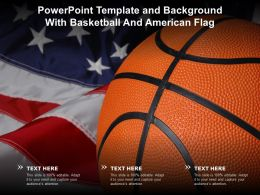 Powerpoint Template And Background With Basketball And American Flag