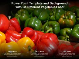 Powerpoint Template And Background With Be Different Vegetable Food