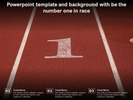 Powerpoint Template And Background With Be The Number One In Race