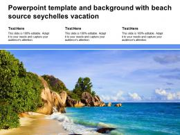 Powerpoint Template And Background With Beach Source Seychelles Vacation