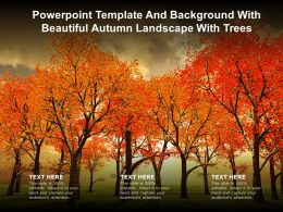 Powerpoint Template And Background With Beautiful Autumn Landscape With Trees