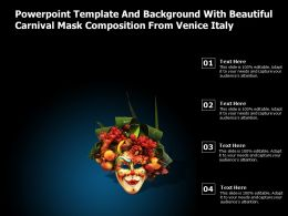 Powerpoint Template And Background With Beautiful Carnival Mask Composition From Venice Italy