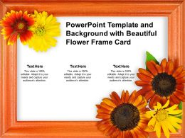 Powerpoint Template And Background With Beautiful Flower Frame Card