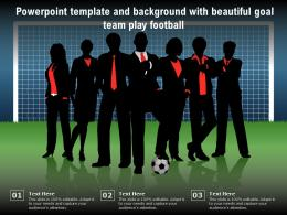 Powerpoint Template And Background With Beautiful Goal Team Play Football