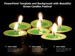 Powerpoint Template And Background With Beautiful Green Candles Festival