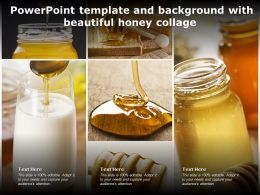 Powerpoint Template And Background With Beautiful Honey Collage