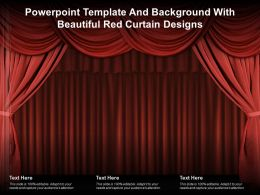 Powerpoint Template And Background With Beautiful Red Curtain Designs