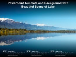 Powerpoint Template And Background With Beautiful Scene Of Lake
