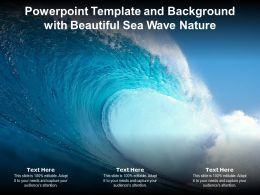 Powerpoint Template And Background With Beautiful Sea Wave Nature