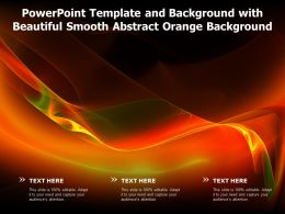 Powerpoint Template And Background With Beautiful Smooth Abstract Orange Background