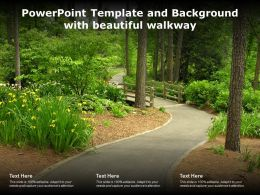 Powerpoint Template And Background With Beautiful Walkway
