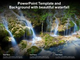 Powerpoint Template And Background With Beautiful Waterfall Ppt Powerpoint