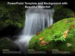 Powerpoint Template And Background With Beautiful Waterfall