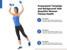 Powerpoint Template And Background With Beautiful Woman Fitness Health