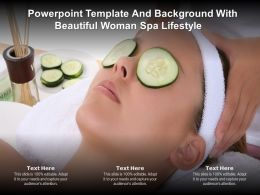 Powerpoint Template And Background With Beautiful Woman Spa Lifestyle
