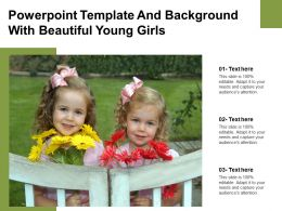 Powerpoint Template And Background With Beautiful Young Girls