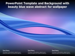Powerpoint Template And Background With Beauty Blue Wave Abstract For Wallpaper
