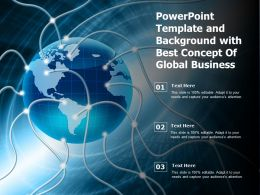 Powerpoint Template And Background With Best Concept Of Global Business