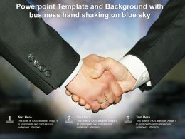 Powerpoint Template And Background With Best Handshake