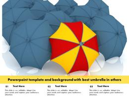 Powerpoint Template And Background With Best Umbrella In Others