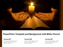 Powerpoint Template And Background With Bible Church