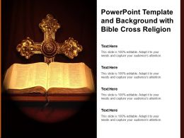 Powerpoint Template And Background With Bible Cross Religion