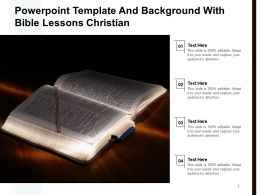 Powerpoint Template And Background With Bible Lessons Christian