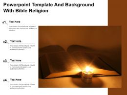 Powerpoint Template And Background With Bible Religion