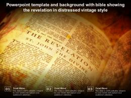 Powerpoint Template And Background With Bible Showing The Revelation In Distressed Vintage Style