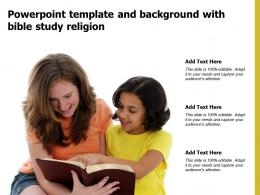 Powerpoint Template And Background With Bible Study Religion