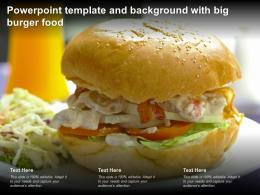 Powerpoint Template And Background With Big Burger Food
