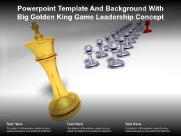Powerpoint Template And Background With Big Golden King Game Leadership Concept
