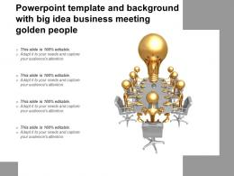 Powerpoint Template And Background With Big Idea Business Meeting Golden People