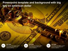 Powerpoint Template And Background With Big Key On American Dollar