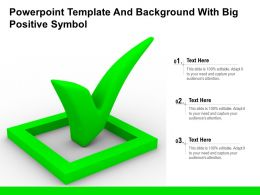 Powerpoint Template And Background With Big Positive Symbol
