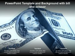 Powerpoint Template And Background With Bill And Scissor