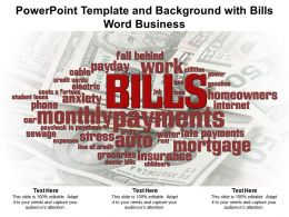 Powerpoint Template And Background With Bills Word Business