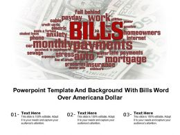 Powerpoint Template And Background With Bills Word Over Americana Dollar