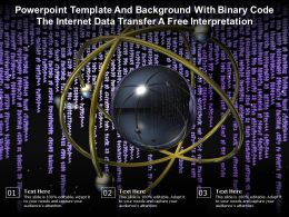 Powerpoint Template And Background With Binary Code The Internet Data Transfer A Free Interpretation