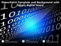 Powerpoint Template And Background With Binary Digital Board