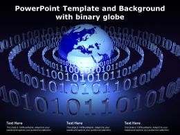 Powerpoint Template And Background With Binary Globe
