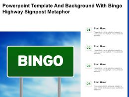 Powerpoint Template And Background With Bingo Highway Signpost Metaphor