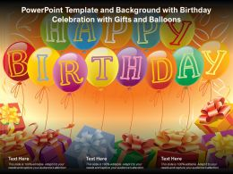 Powerpoint Template And Background With Birthday Celebration With Gifts And Balloons