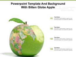 Powerpoint Template And Background With Bitten Globe Apple