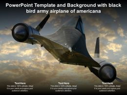 Powerpoint Template And Background With Black Bird Army Airplane Of Americana